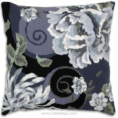 Floral Swirl In Black - Anchor