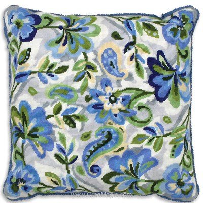 Paisley Floral in Blue - Anchor