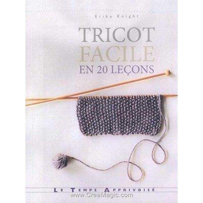 livre Tricot Facile en 20 leçons - 144 pages - Editions
