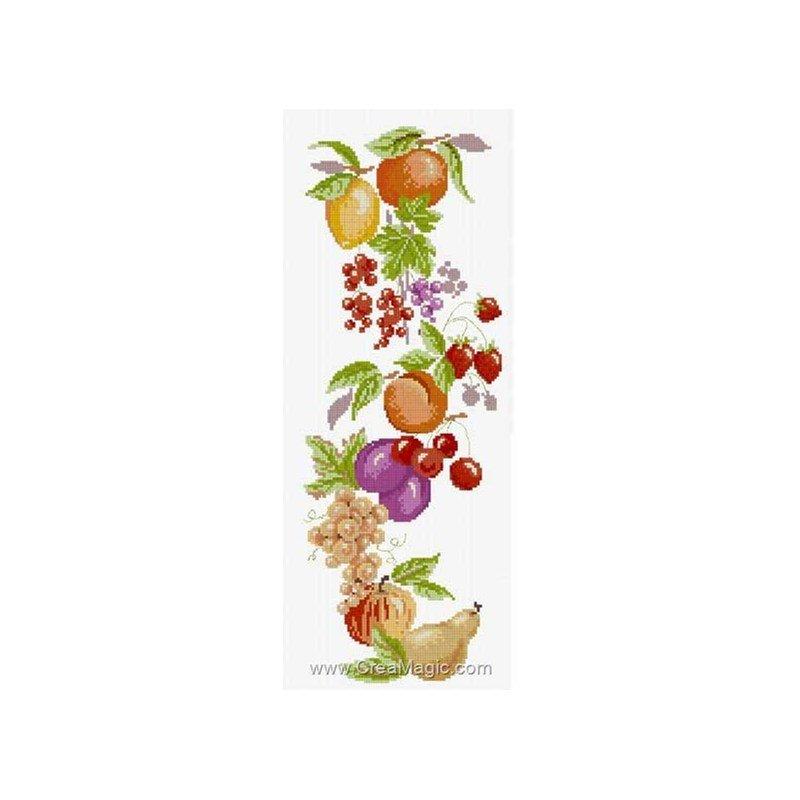 La broderie guirlande de fruits rig 625 chez anagram - Fruits et legumes de a a z ...