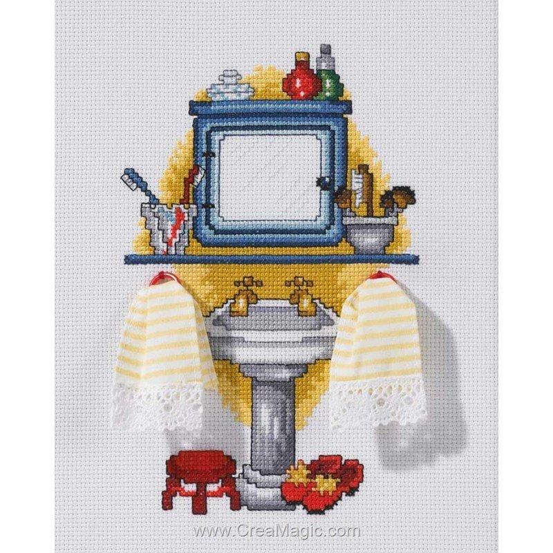 Broderie de permin au point de croix wash salle de bain for Kit deco salle de bain