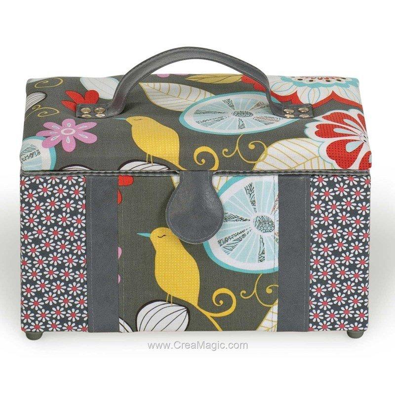 Boite couture tissu avec cuir d co oiseaux 224 1200 31 for Boite a couture vide