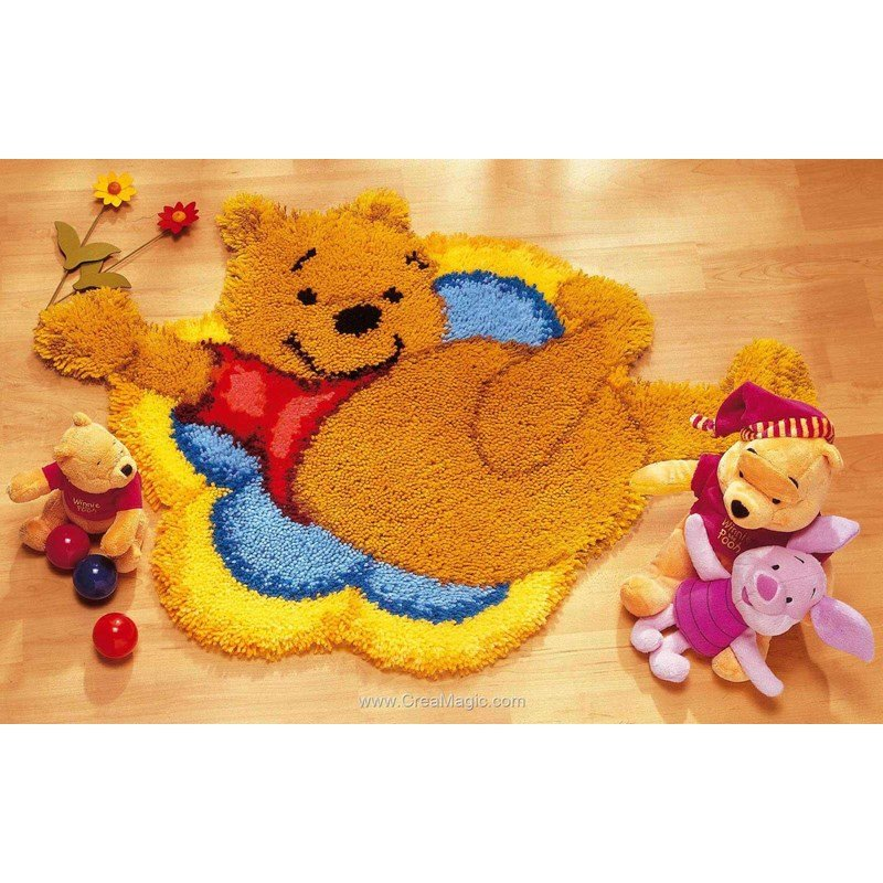 Vervaco Tapis Point Nou Winnie L 39 Ourson Sur Le Nuage