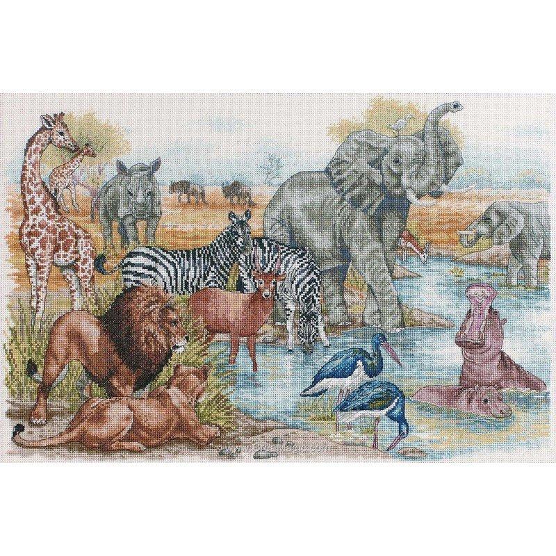 Anchor kit broder le bain des animaux d 39 afrique - Images d animaux sauvages gratuites ...