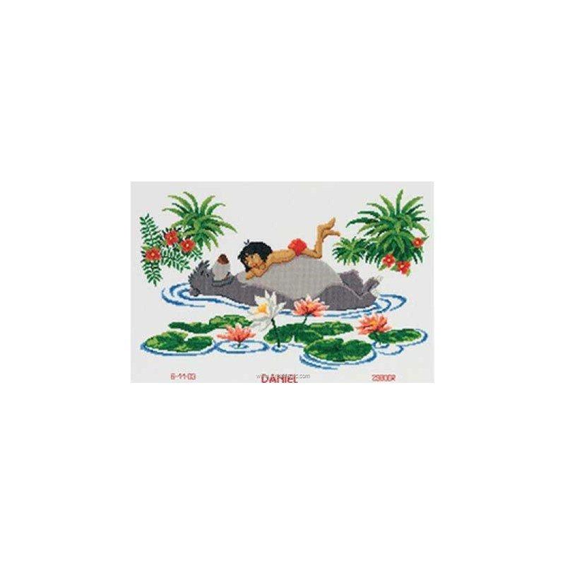 Point De Croix Naissance Mowgli Et Baloo Le Livre De La Jungle De Disney De Vervaco