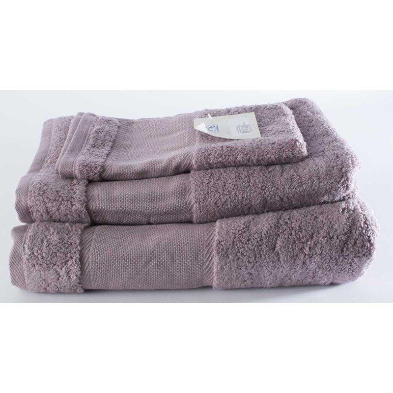 lot de serviettes dmc broder bain toilette et invit coton 500 gr m coloris violet. Black Bedroom Furniture Sets. Home Design Ideas