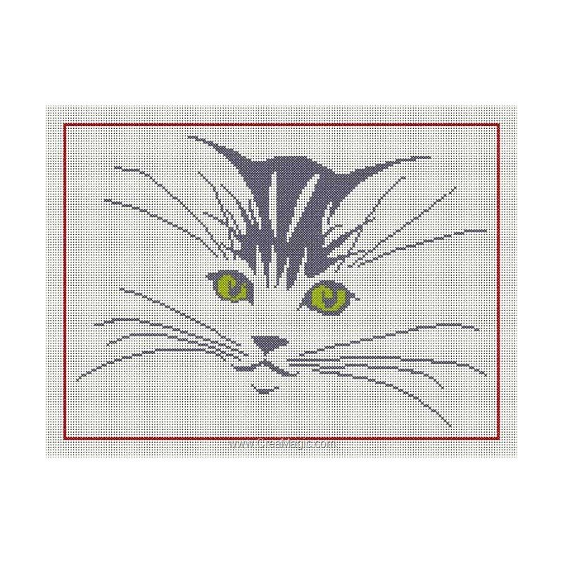 Вышивка морд кошки схем