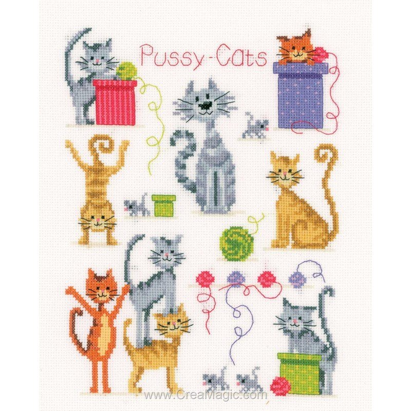 La broderie des amours de chats PN-0143719 de Vervaco
