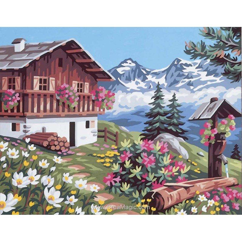 le jardin fleuri canevas 0142 0036 royal paris. Black Bedroom Furniture Sets. Home Design Ideas