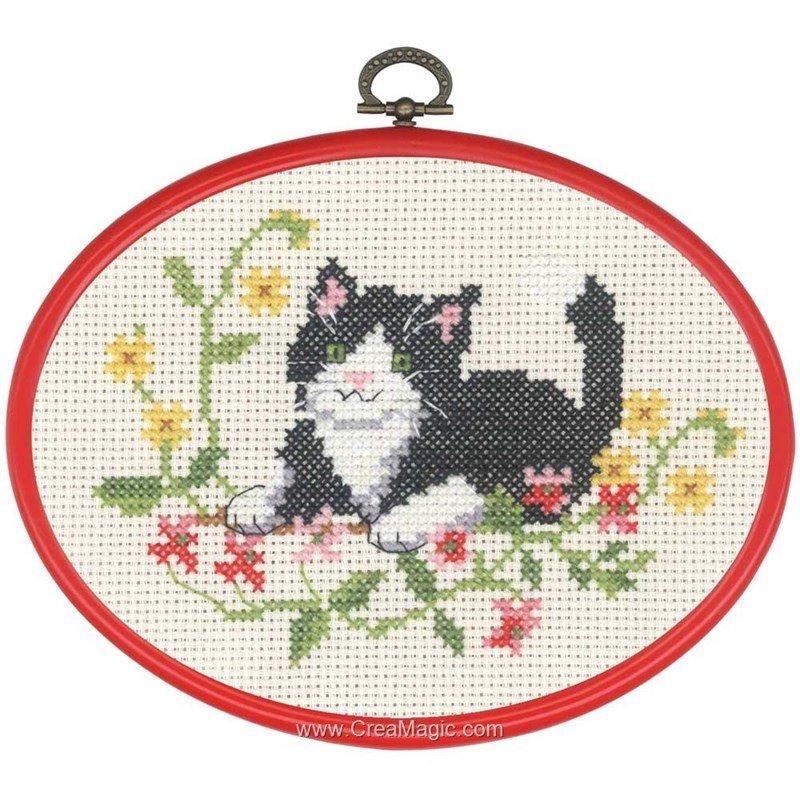 Permin kit broderie point de croix le petit chat noir à bas prix