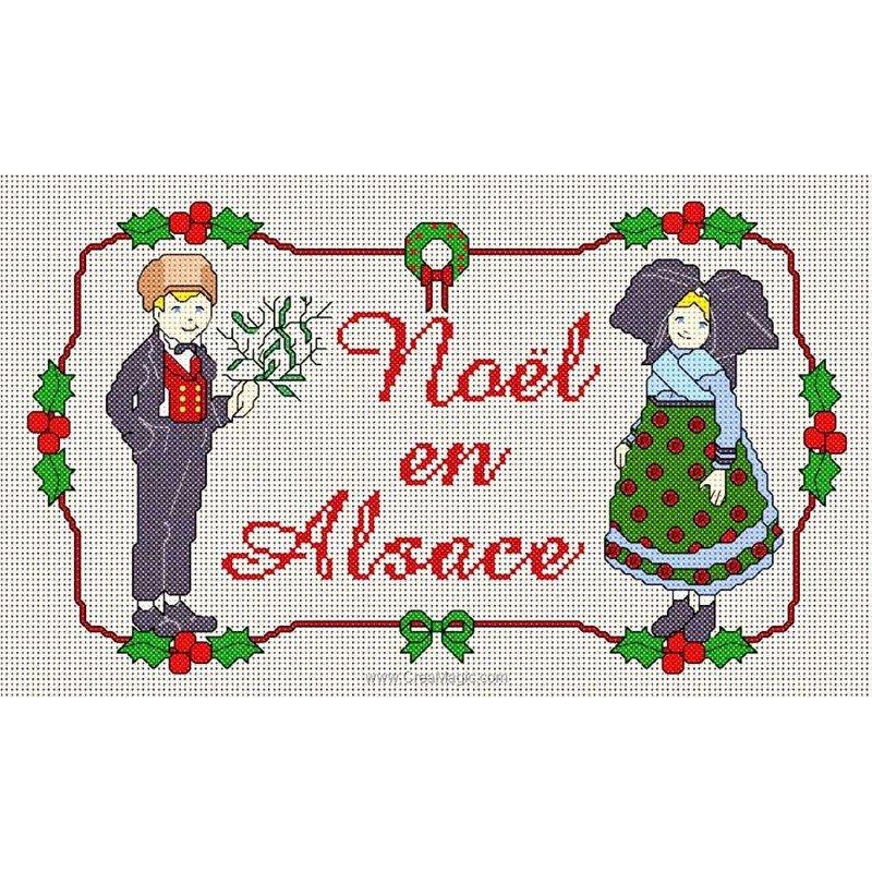 No l en alsace i hansi grille de broderie d 39 anagram for Decoration de noel alsacienne