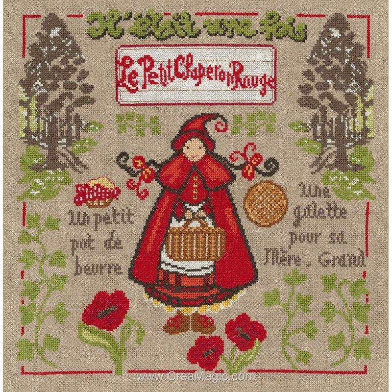 Kit Broderie Point De Croix Le Petit Chaperon Rouge Marie Coeur