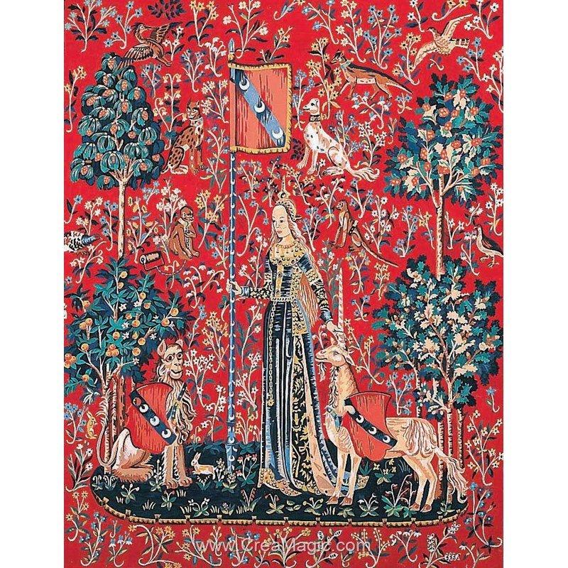 Margot canevas tapisserie le toucher dame la licorne - Tapisserie dame a la licorne ...