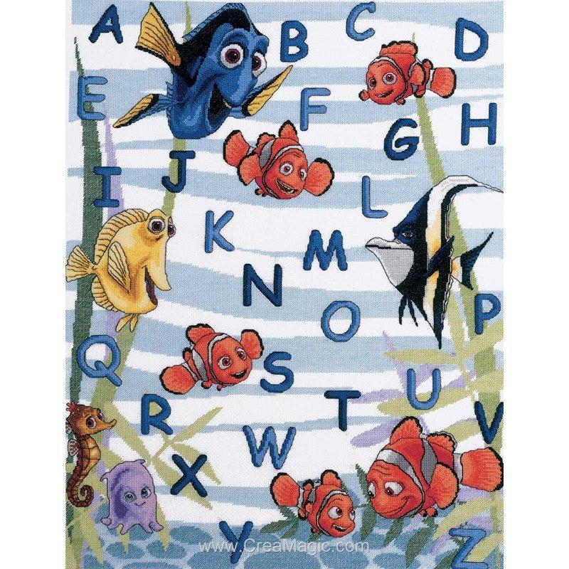 Broderie Royal Paris Abecedaire Disney De Nemo 6443 0014
