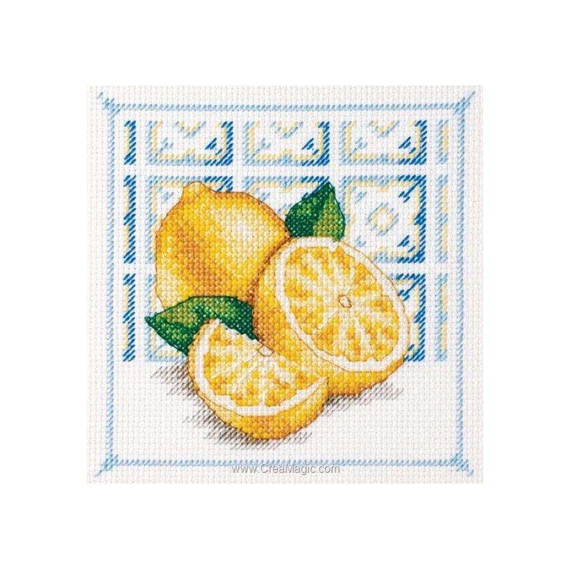 Royal Paris modèle broderie point de croix les citrons