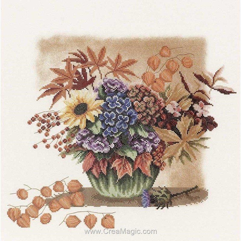 Lanarte broderie au point compté autumn bouquet