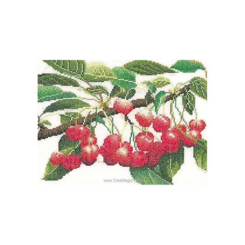 La broderie branche de cerises sur lin chez Thea Gouverneur