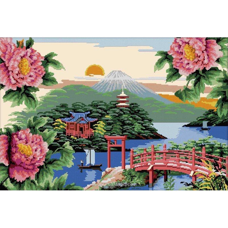 broder en point de croix luc cr ation jardin japonais. Black Bedroom Furniture Sets. Home Design Ideas