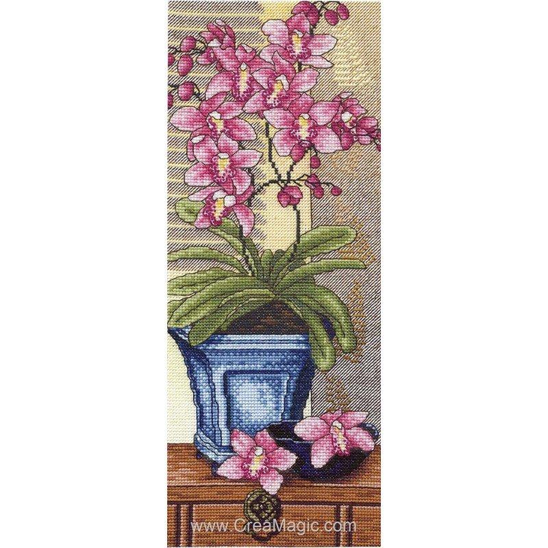 les orchid es sur l 39 tag re 6418 00012 chez royal paris. Black Bedroom Furniture Sets. Home Design Ideas