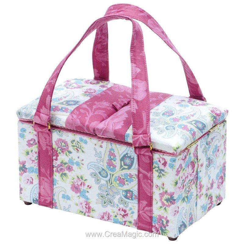 Boite couture tissu merveilles fleuries 224 1258 de milward for Boite a ouvrage couture