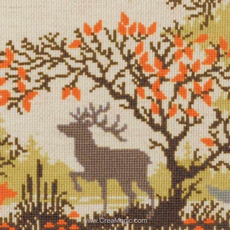 Nappe en kit animaux de la forêt à broder - RIOLIS R1739
