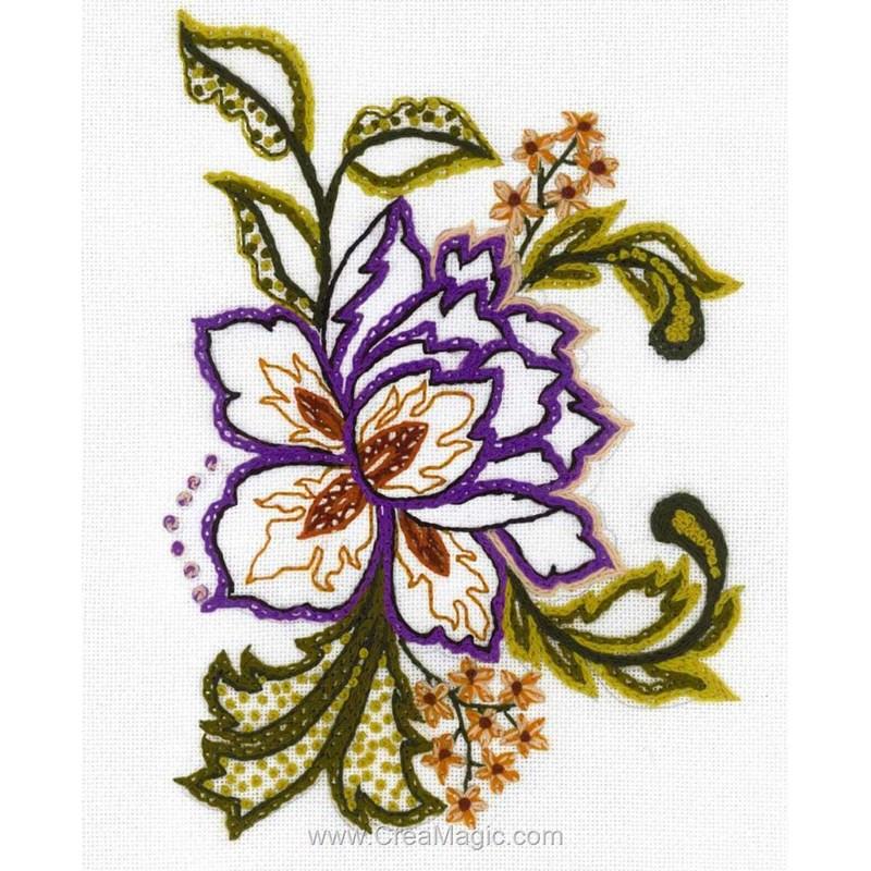 Kit broderie traditionnelle RIOLIS croquis de fleurs