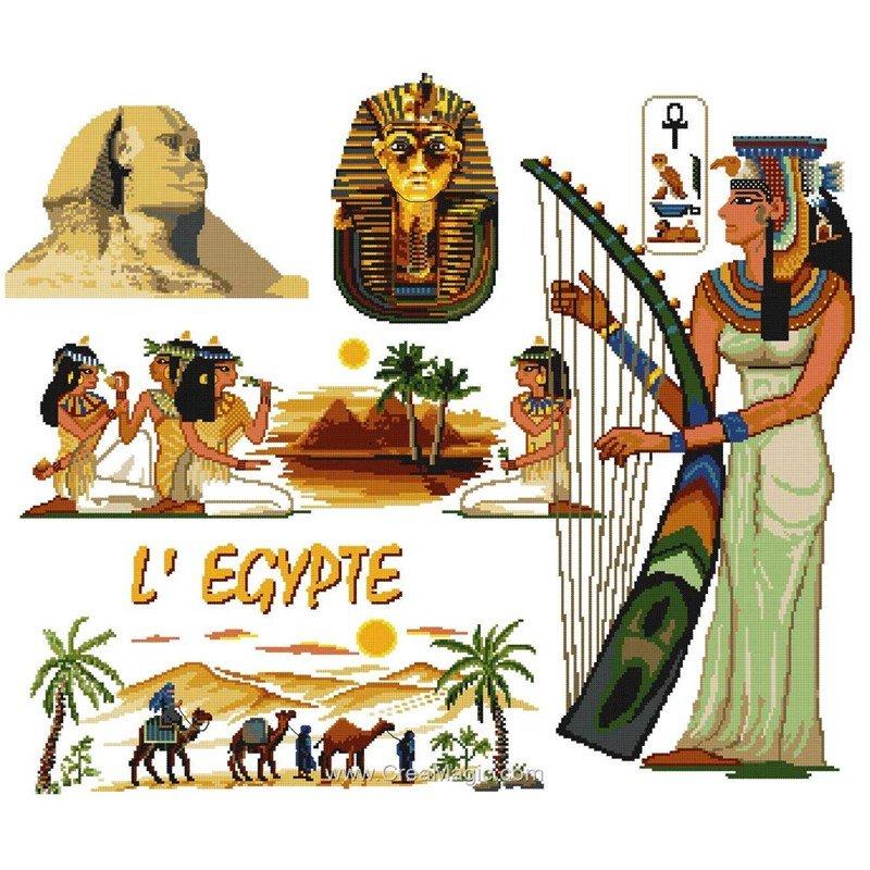 la broderie l 39 egypte des pharaons luc cr ation. Black Bedroom Furniture Sets. Home Design Ideas