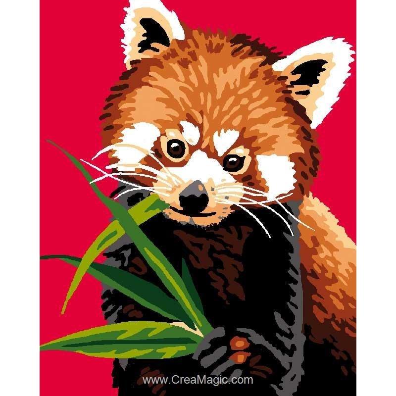 Kit Canevas Enfant Panda Roux De Luc Création