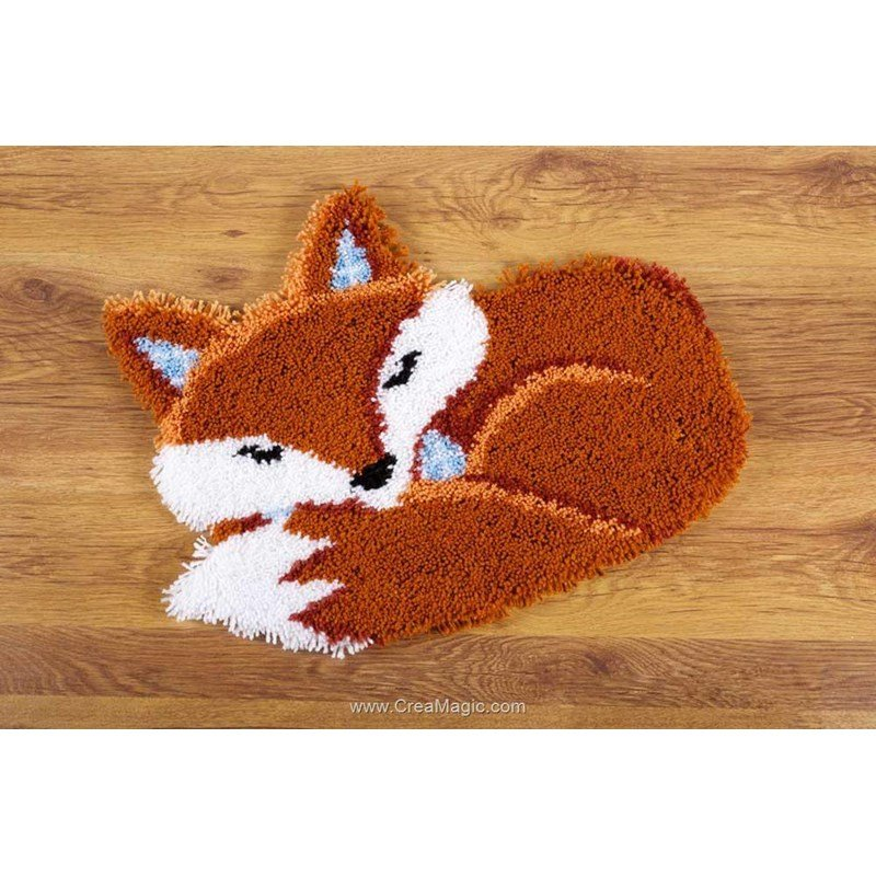 Kit Tapis Point Nou 233 Vervaco Renard Endormi