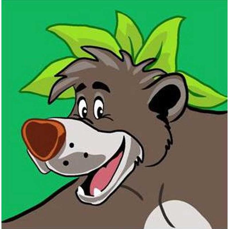 Kit Canevas Enfants Dmc Baloo Le Livre De La Jungle Disney