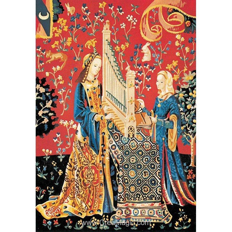 Canevas tapisserie la dame la licorne seg - Tapisserie dame a la licorne ...