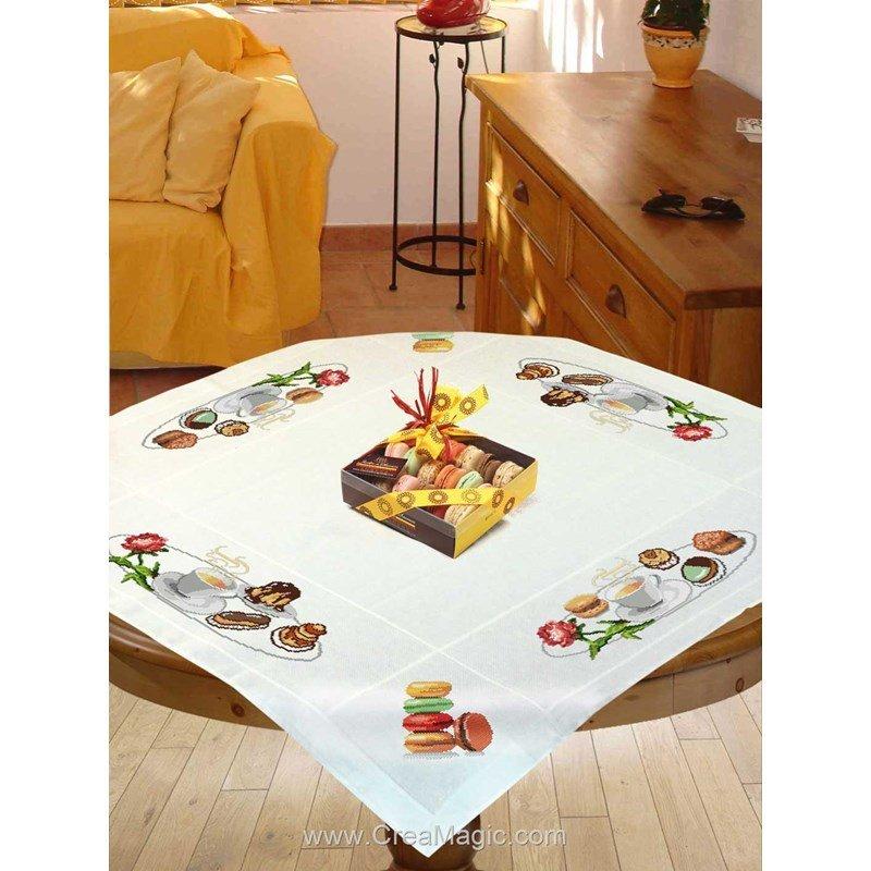kit nappe gourmandises broder de mimo verde. Black Bedroom Furniture Sets. Home Design Ideas