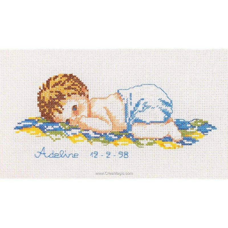 Marie Coeur kit broderie naissance bébé adeline
