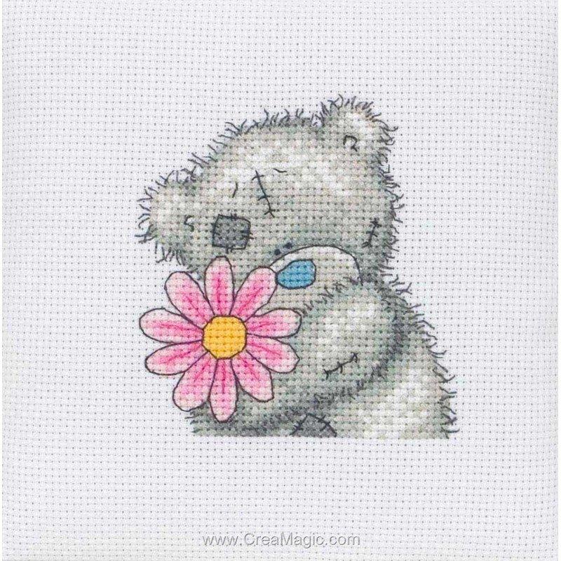 Broderie petite fleur me to you tt30 de me to you - Broderie point de croix grilles gratuites fleurs ...