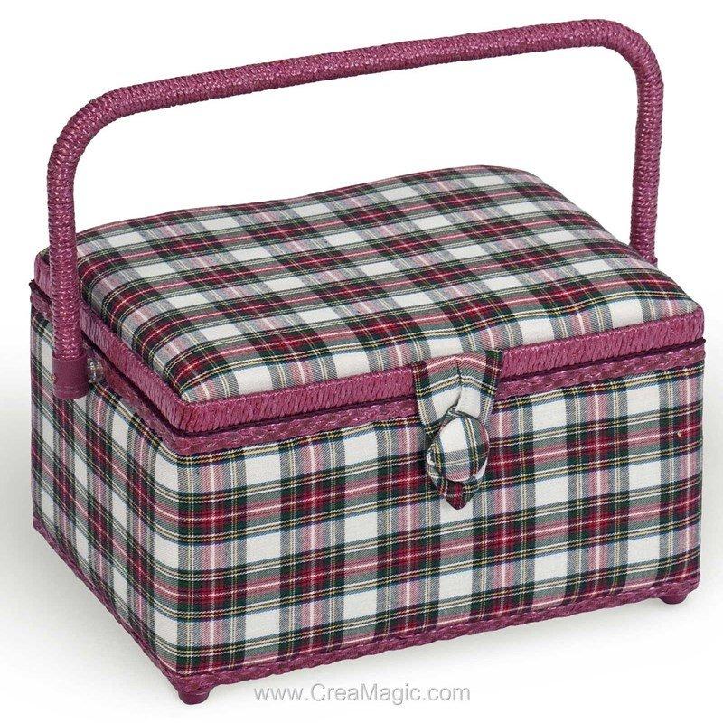 Boite couture tissu ecossais 224 1200 6 de milward for Boite couture tissu