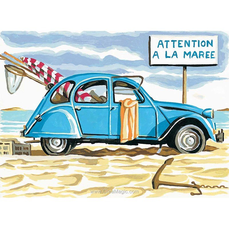 canevas margot 2 cv attention  u00e0 la mar u00e9e 72