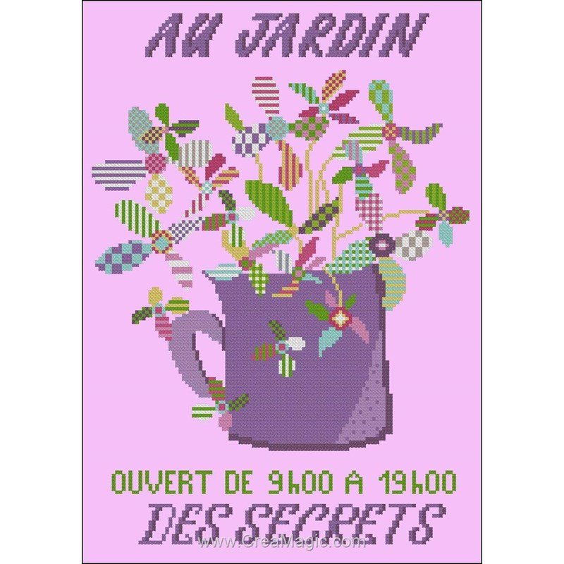 La broderie au jardin secret de points de rep re k 244 for Au jardin secret