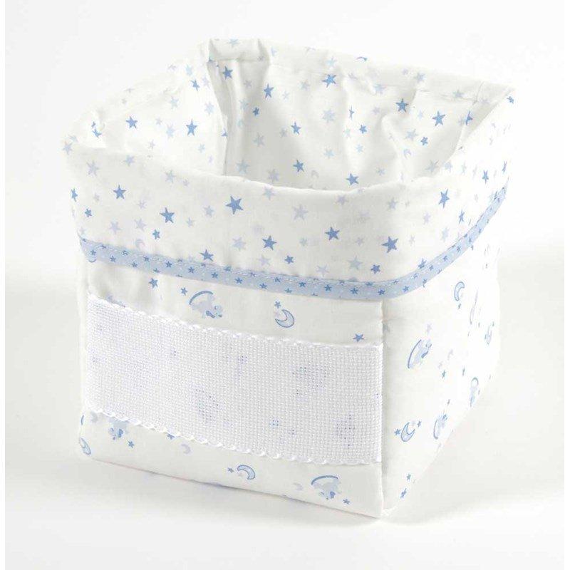 panier nursery b b baby star bleu broder dmc. Black Bedroom Furniture Sets. Home Design Ideas