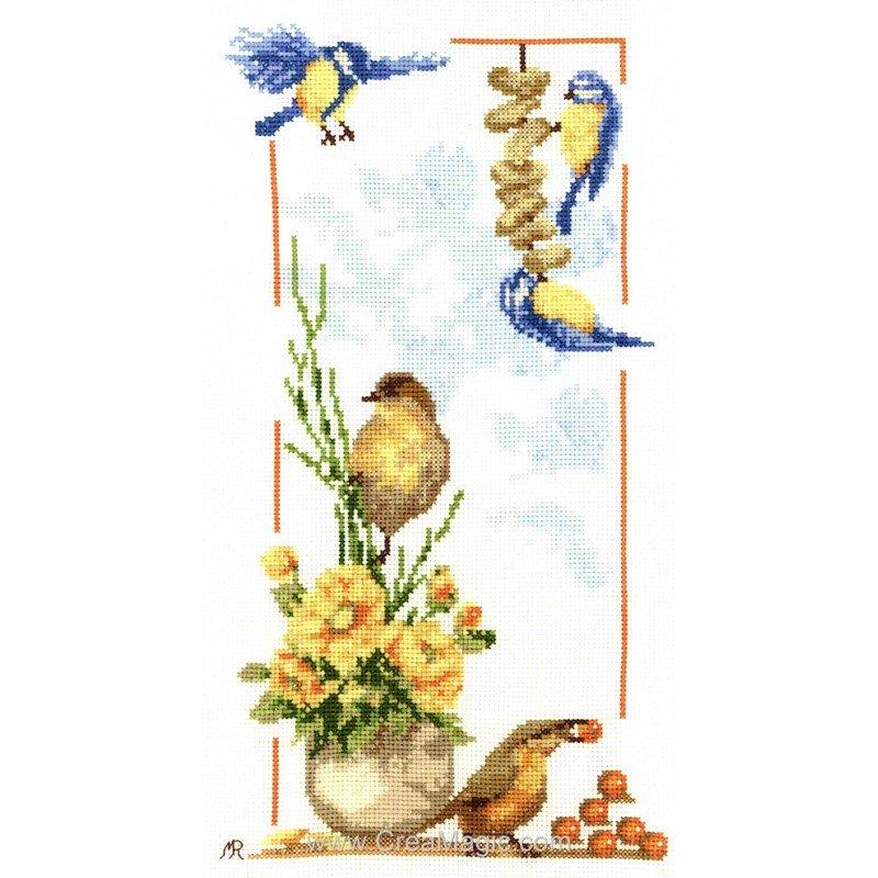 Fiche de broderie oiseaux F-RIG758 d'Anagram