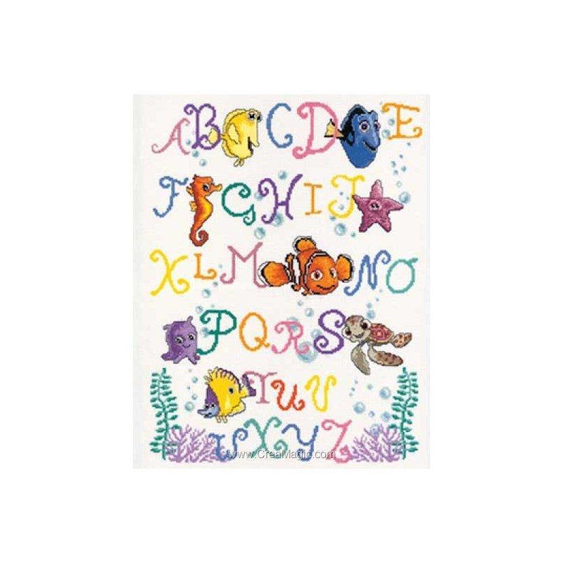 Vervaco kit broder point de croix alphabet color de - Grille point de croix alphabet disney ...