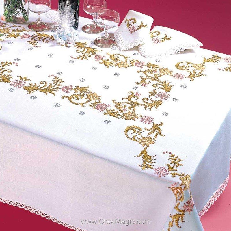 Serviette de table favorite en broderie au point de croix imprimé de Margot Broderie