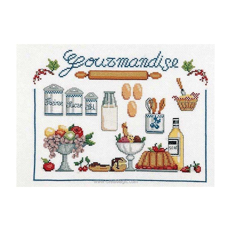 Broderie la gourmandise gm 1972 4821 marie coeur - Point de croix cuisine ...