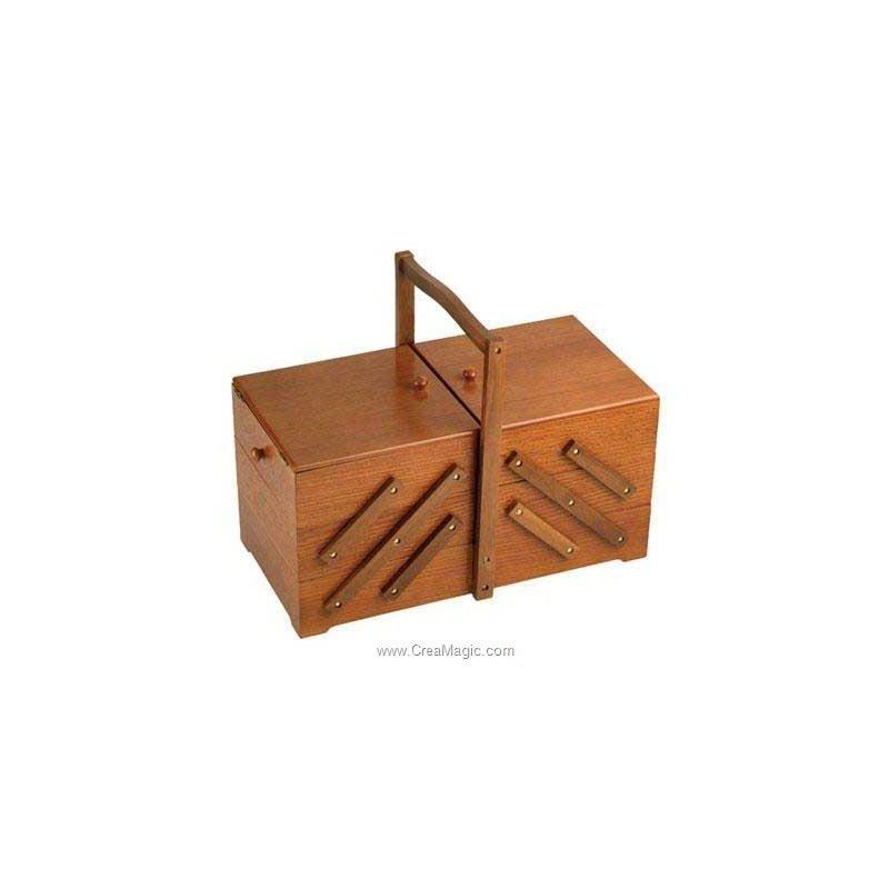 travailleuse en bois en ch ne fonc 612 524 chez prym. Black Bedroom Furniture Sets. Home Design Ideas