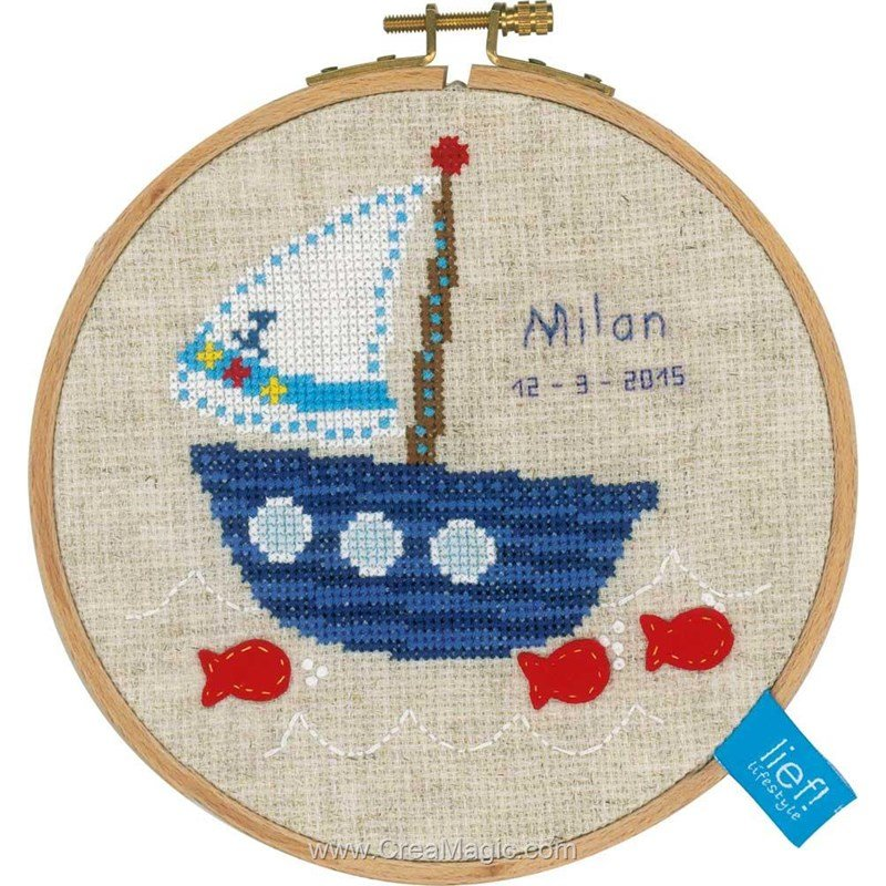 B teau et poisson rouge pn 0154865 lief by vervaco for Kit poisson rouge
