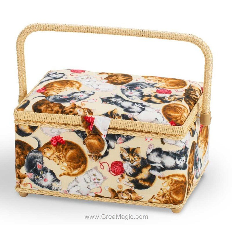 Boite couture tissu chat les joueur milward for Boite a couture tissu