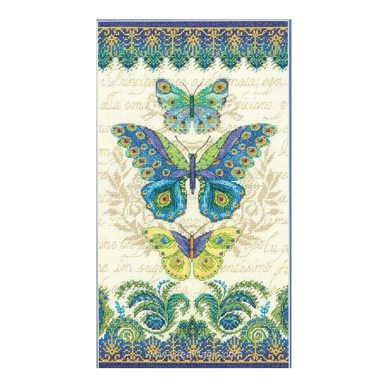 Dimensions Kit Canevas Duo De Papillons Cuisine Maison