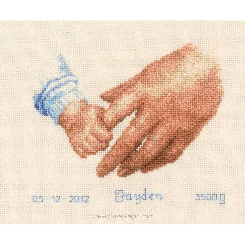 Broderie baby par la main fille ou gar on pn 0145023 de - Tableau fille ou garcon ...