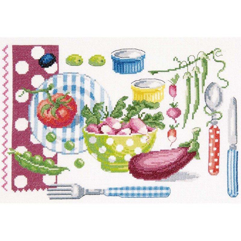 dmc broderie point compt la cuisine vitamin e. Black Bedroom Furniture Sets. Home Design Ideas