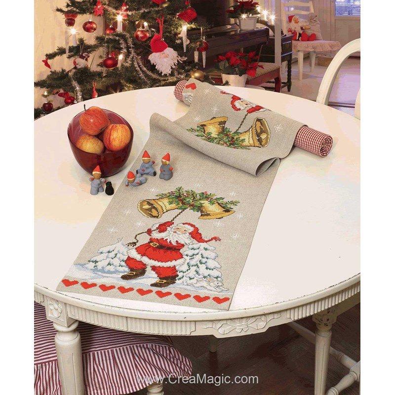 kit chemin de table anchor bells are ringing runner sur lin broder. Black Bedroom Furniture Sets. Home Design Ideas