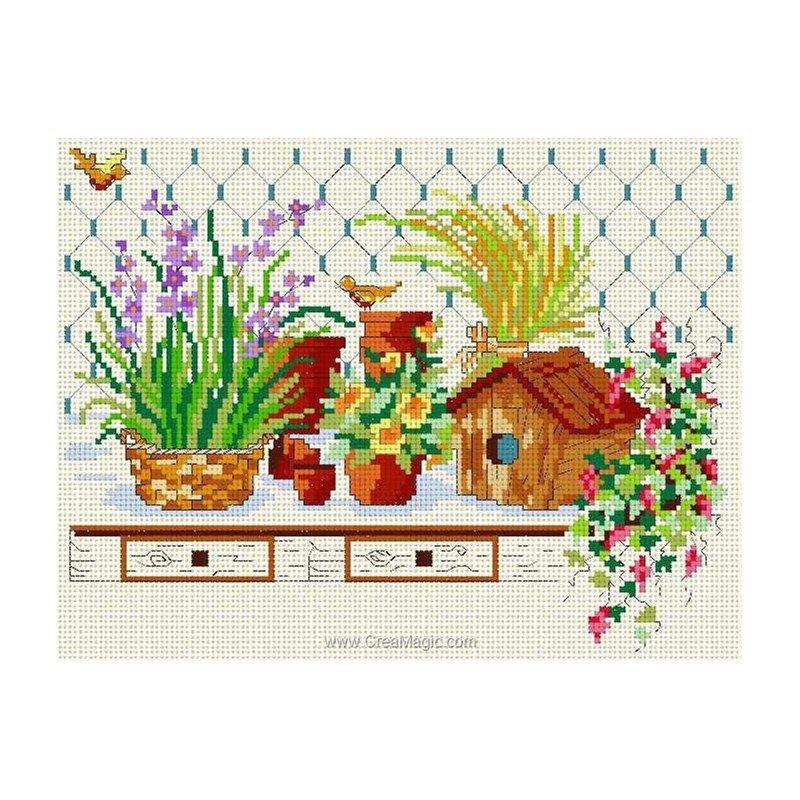 broderie en point croix le nichoir n005 09 chez anagram. Black Bedroom Furniture Sets. Home Design Ideas